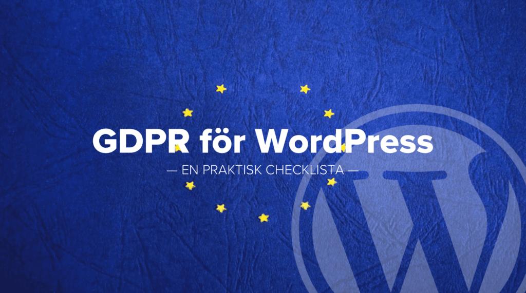 GDPR för WordPress