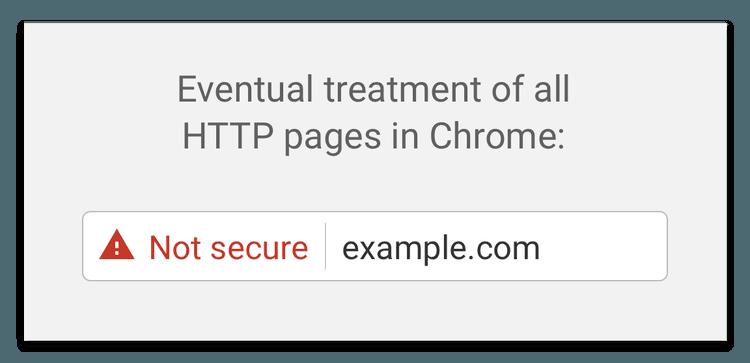 Kommande hantering av HTTP-sidor i Chrome